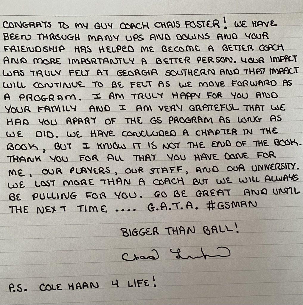 twitter football coach chris foster